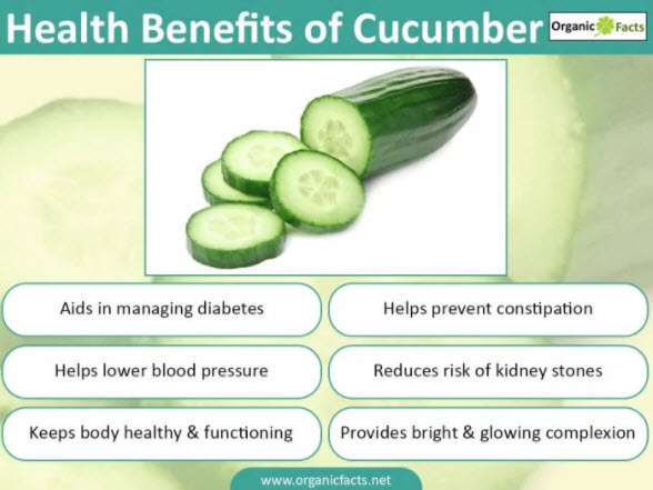 Cucumbers: Seven Health Benefits Your Body Will Absolutely Love